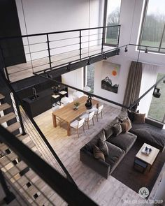 Discover the best Home Deco products on Findelord. Loft Interior Design, Loft Design, Modern House Design, Interior Architecture, Interior Modern, Interior Ideas, Design Design, Loft Stil, Loft Interiors