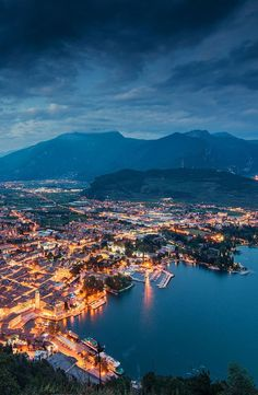Torbole, Trento, Italia. Places To Travel, Travel Destinations, Places To Visit, Best Of Italy, Paradise On Earth, World Images, World Cities, Australia Travel, Aerial View