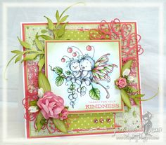 stamp image by Wee Stamps from Magnolia-licious, put together & colored with TouchTwin markers by Suzanne J Dean of ScrapBitz   http://magnoliastamps.us/store2/brand-new-wee-collection-1/   #cards #crafts #art