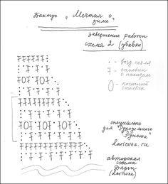 схема вязания шарфа бактуса крючком