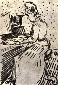 TICMUSart: Mademoiselle Gachet at the Piano - Vincent van Gog... (I. M.)