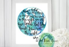 $2 I Have Overcome the World// Peace// Bible by LilRedBrickHouse In this world you will have trouble watercolor print John 16:33 Bible Quotes About Peace, Overcome The World, Inspirational Wall Art, Red Bricks, World Peace, Hand Painted Signs, Black Letter, Watercolor Print, In This World