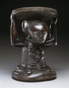 Stool supported by kneeling female figure (kipona) | Dallas Museum of Art