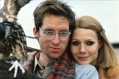 Wes Anderson and Gwyneth Paltrow on the set of The Royal Tenenbaums
