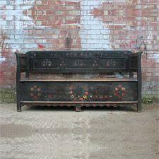 A wonderful antique European box settle