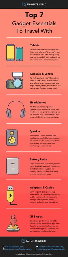 Top 7 Gadget Essentials To Travel With