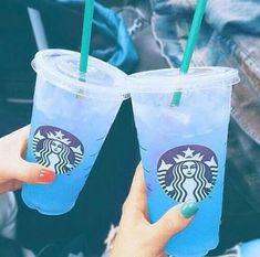 Imagem de starbucks, blue, and drink