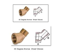 45 Degree Bronze Street Elbows #45DegreeBronzeStreetElbows  Copper Parts Components India is a manufacturers exporters and suppliers of Bronze 45 Degree  elbows Street Elbow Fittings brass 90 degree elbow  90 degree brass elbow  bronze fittings 90 degree brass fittings.