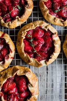 Gluten-Free Strawberry Balsamic & Thyme Galettes - Perfect for Mother's Day!