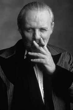 Meet Joe Black was all about Brad Pitt.but Sir Anthony made the movie for me. Famous Cigars, Sir Anthony Hopkins, People Smoking, Looks Black, Hannibal Lecter, Fidel Castro, Best Actor, Famous Faces, Hollywood Actresses
