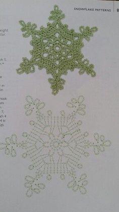 Snowflake 30 – Snowflakes World Crochet Snowflake Pattern, Crochet Stars, Crochet Motifs, Christmas Crochet Patterns, Crochet Snowflakes, Crochet Diagram, Christmas Knitting, Thread Crochet, Crochet Crafts