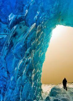 Ice cave in Juneau, Alaska.