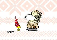Snoopy and Woodstock are ready for Winter                              …