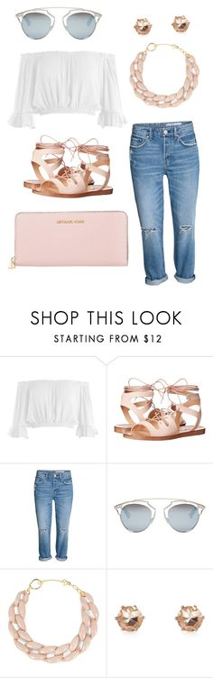 """Gorgeous girl"" by diamondsandcouture on Polyvore featuring Sans Souci, Steve Madden, Christian Dior, DIANA BROUSSARD, River Island and Michael Kors"