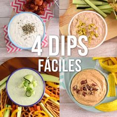 4 Formas de Preparar Dips These 4 ways to prepare the dip for swinging in a meeting. They are very simple and tasty. Comidas Light, Cinnamon Health Benefits, Mexican Food Recipes, Ethnic Recipes, Yummy Food, Tasty, Cooking Recipes, Healthy Recipes, Food Videos