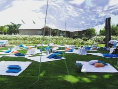 Wedding Picnic in Blue, Orange and White! Blue Orange Weddings, Picnic Blanket, Outdoor Blanket, Wedding Picnic, Fun Events, Summer Picnic, Nature, Instagram, Naturaleza