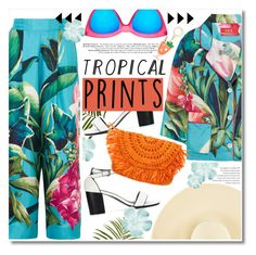 """Tropical Prints"" by chocolate-addicted-angel ❤ liked on Polyvore featuring Pier 1 Imports, F.R.S. For Restless Sleepers, Le Specs, Eugenia Kim and Kate Spade"
