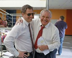 The DiNozzo's. Michael Weatherly and Robert Wagner (Senior). From MW's twitter.