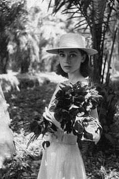 11 Iconic Audrey Hepburn Photos Every Fan Must See  #refinery29  http://www.refinery29.com/2015/06/87205/audrey-hepburn-photos-national-portrait-gallery#slide-9  Hepburn on location in Africa for The Nun's Story in 1958, shot by Leo Fuchs. ...