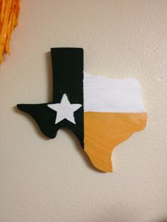 Wooden Texas #Baylor flag