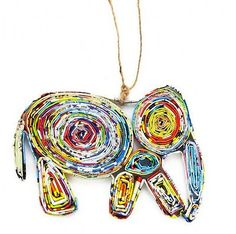 UNIQUE ORNAMENT ELEPHANT- HANDMADE FROM RECYCLED PAPER