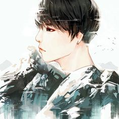 It's getting colder (Actually just a tribute to his black hair I'm so late)  I also recently just passed 1 year anniversary on instagram  thank you, everyone. #btsfanart #yoongi #suga