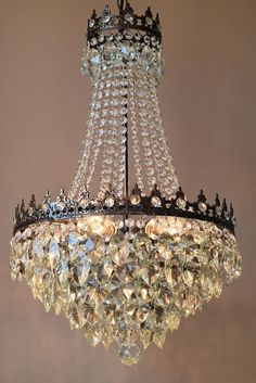 Home-Living-Brass-Lustre-Antique-French-Vintage-Crystal-Chandelier ...