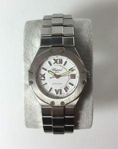 Herren-Armbanduhr Chopard St. Moritz, Ref. 8319, Automatik, Stahl, weißes Zi.blatt, röm.Ziffern/In — Uhren