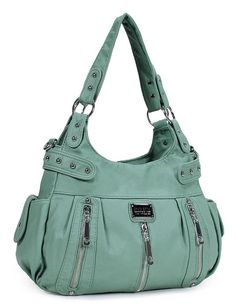 778515236a Scarleton 3 front zipper washed shoulder bag h1292 Mint New free shipping  to USA  Scarleton  ShoulderBag