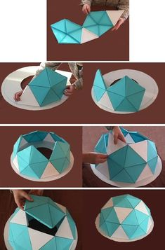 Dome Structure, Geodesic Dome Homes, Paper Art, Paper Crafts, Dome Greenhouse, Modelos 3d, Dome House, Home Crafts, Geometry