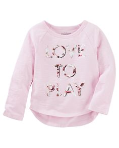 Toddler Girl Raglan Tee from OshKosh B'gosh. Shop clothing & accessories from a trusted name in kids, toddlers, and baby clothes.