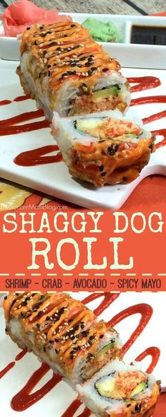 Shaggy Dog Roll Sushi (How to Make it at Home!) The Shaggy Dog Roll is a sushi restaurant classic — crispy, creamy, a little bit spicy, and a whole lot of flavor! Here's how to make this maki at home. Copycat Recipes, Seafood Recipes, Cooking Recipes, Kitchen Recipes, Oats Recipes, Cooking Tips, Cooked Sushi Recipes, Easy Sushi Recipes, Cooking Pork