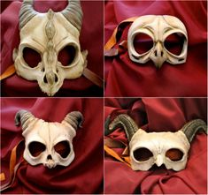 Demonic and dramatic handmade masks of dragons, owls and horned demons | Dangerous Minds