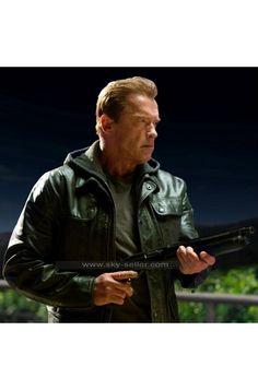 #TerminatorGenisys #ArnoldSchwarzenegger #LeatherJacket #Fashion #Lifestyle #Outwear #Outfit #Designer #BlackJacket #TerminatorJacket #ArnoldJacket