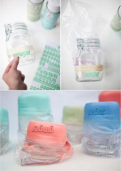 #DIY dipped kitchen jars