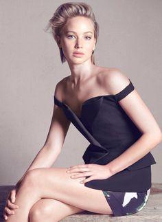 Jennifer Lawrence, photographed by Luigi & Iango for Dior, 2014.