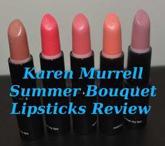 Karen Murrell Summer Bouquet Lipsticks Review http://youtu.be/zh1GSnX-7tM