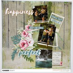 Kaisercraft March 2017 Official Blog Challenge. 'Let's Do This' layout Inspiration by Collette Mitrega Design Team member for Kaisercraft using their 'Island Escape' collection. (February 2017) Learn more at kaisercraft.com.au/blog ~ Wendy Schultz ~ Scrapbook Layouts. Scrapbook Sketches, Scrapbook Albums, Scrapbooking Layouts, School Scrapbook, Travel Scrapbook, Paper Crafts, Diy Crafts, Layout Inspiration, Page Design