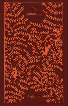Cover for translation of Valmiki's Ramayana, published by Penguin Books, part of a series of Clothbound Classics designed by Coralie Bickford-Smith