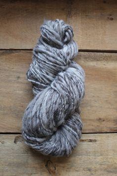 Handspun Jacob Wool Yarn Variegated Grey and by Tillhandahalla