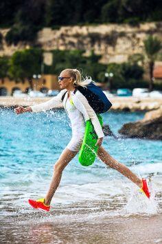yulia lobova model2 Yulia Lobova Gets Active for Bazaar Poland by Michelle Du Xuan