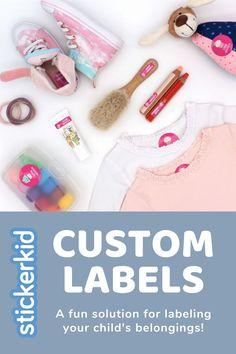 School Name Label Pack Animal Print Bright Pink