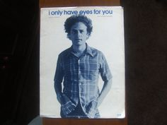 Sheet Music I Only Have Eyes For You, Cover Art Garfunkel
