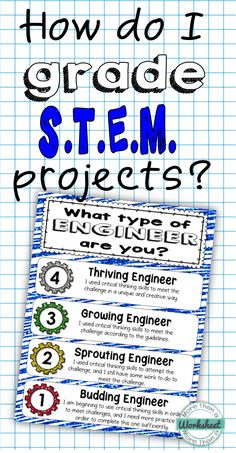 Grading STEM Projects - I like this self-assessment poster for engineering projects