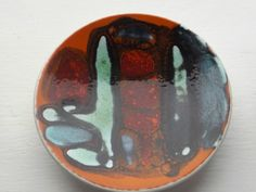 Early Poole Pottery Delphis Pin Dish, Carol Cutler, Shape 49, lightly Textured