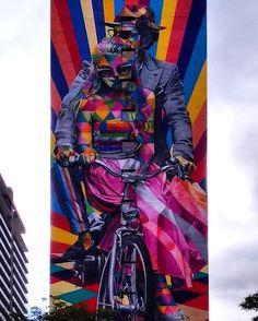 Street Art by Kobra found in São Paulo, Brazil.