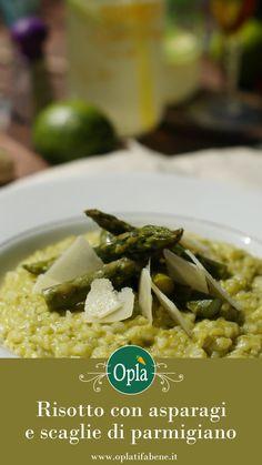 Risotto con asparagi e scagli di parmigiano reggiano #risotto #asparagi #cucinavegetariana