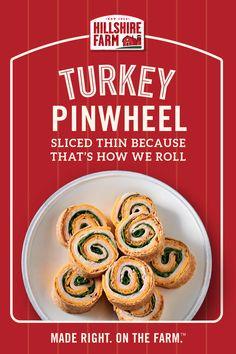 How do you make the perfect Turkey Pinwheel? Make it with Hillshire Farm® lunchmeat. Turkey Pinwheels, Perfect Turkey, Pinwheel Recipes, Bariatric Recipes, Wrap Recipes, Appetizer Recipes, Appetizers, Healthy Snacks, Healthy Recipes
