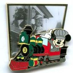 Trading pin: Walt and Mickey Riding the Railroad