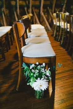 ceremony decor, photo by Emily Chidester http://ruffledblog.com/fort-mill-barn-wedding #wedding #ceremony #weddingdecor